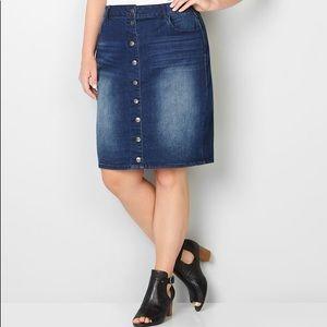 Xhilaration Button Front Skirt